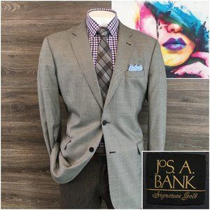 Jos A Bank Gold Signature Sport Coat  Wool Silk